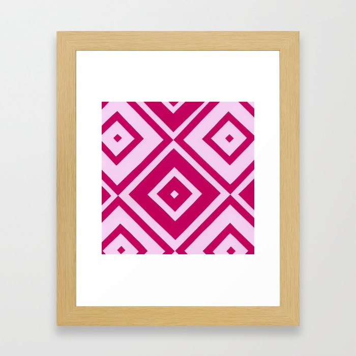 Pink Diamonds Framed Art Print
