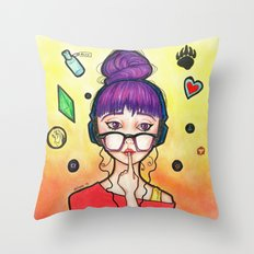 Violet Lilieth Throw Pillow