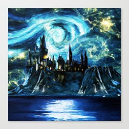 Starry Night Hogwarts Canvas Print