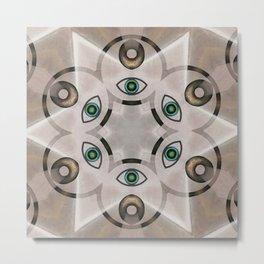 Yin Yang Mandala Metal Print