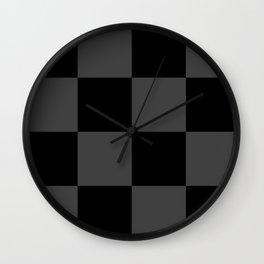 Black 2 Tone Pattern Wall Clock