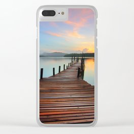 Pier on the Water at Sunset  Clear iPhone Case