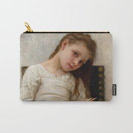 """William-Adolphe Bouguereau """"Le Livre De Prix (The Price Book)"""" Carry-All Pouch"""