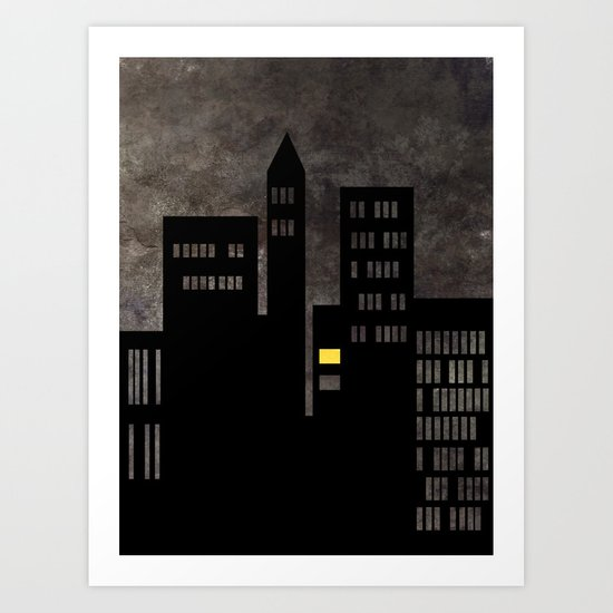 City Skyline Light Art Print