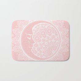 Mandala Moon Pink Bath Mat