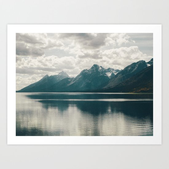 Reflection On Jenny Lake Art Print