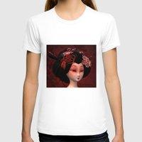 geisha T-shirts featuring Geisha by Heidy Curbelo