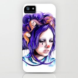 Dolls in her hair, Forest of Dolls Collection iPhone Case