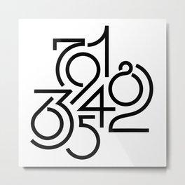 Numeric Metal Print