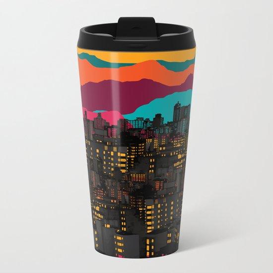 Fragmented III VI Metal Travel Mug