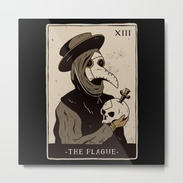 Aesthetic The Plague Tarot Card Design Metal Print