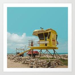 T7 Lifeguard Station Kapukaulua Beach Paia Maui Hawaii Art Print