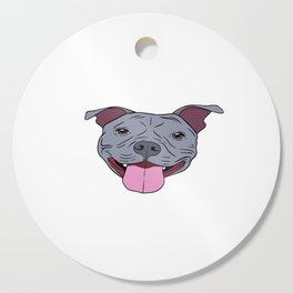 """Certified Dog Lover? Here's a cute t-shirt design with an illustration of """"Pit bull Mama"""" T-shirt Cutting Board"""
