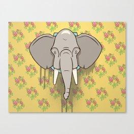 Elephant Trophy Canvas Print