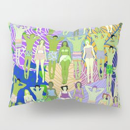 Solar Martian Green Suntan City Pillow Sham