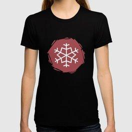 Christmas snow pattern T-shirt