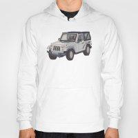 jeep Hoodies featuring Jeep Wrangler 2012 by Megan Yiu