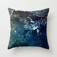 europe Throw Pillows featuring Europe UpsideDown by Marco Bagni