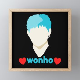 Wonho Love Fan Club Fandom Framed Mini Art Print