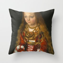 "Lucas Cranach the Elder ""A Princess of Saxony"" Throw Pillow"