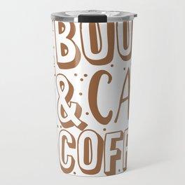Books, cats and coffee Travel Mug