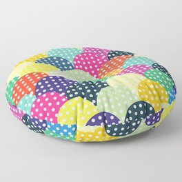 Poster Background   Colorful Circles Floor Pillow