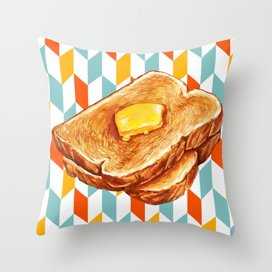 Toast Throw Pillow By Kelly Gilleran