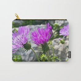 SICILIAN PURPLE THISTLE Carry-All Pouch