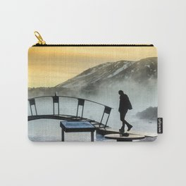 Foggy sunset in Blue Lagoon Carry-All Pouch