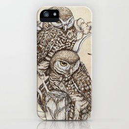 Duality - Two Burrowing Owls iPhone Case