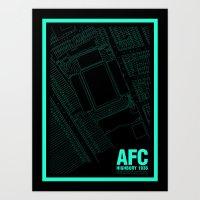 arsenal Art Prints featuring Highbury - It's Arsenal Around Here by miniboro