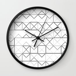 COLORING PIRAMIDS Wall Clock