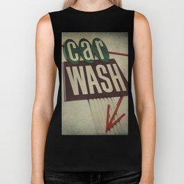 Retro Car Wash Sign Biker Tank
