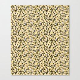 Bitmap in beige tones. Canvas Print