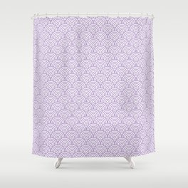 Lavender Concentric Circle Pattern Shower Curtain