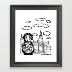 From Russia To Manhattan Framed Art Print
