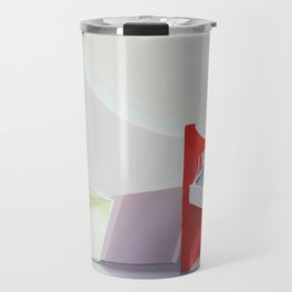 spiral on red Travel Mug