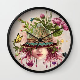 Hat Terrarium Wall Clock