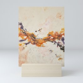 Dissolving ribbons of color Mini Art Print