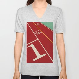 Running Track 123 Unisex V-Neck