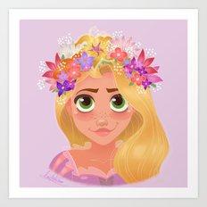 Magical Flower Crown Art Print