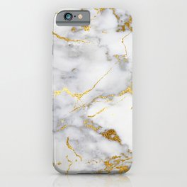 Gray And Gold Girly Marble  iPhone Case