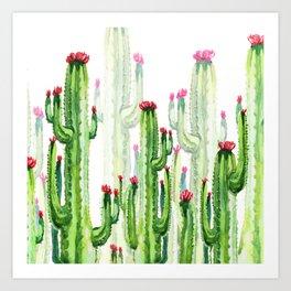 cactus four new Art Print