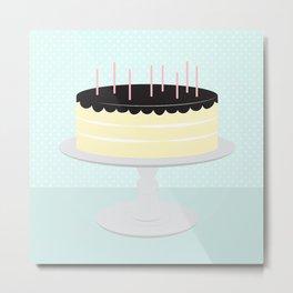 Cream Cake // Creamsicle + Aqua Metal Print