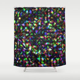 Metal Old Colorful Shower Curtain