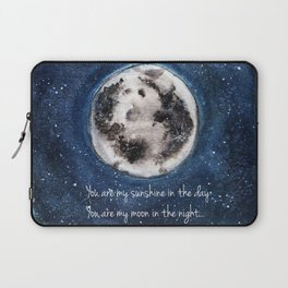 Moon, Blue skies, Lovely Moon, Moon and Sunshine, Gift, night sky Laptop Sleeve