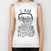hiphop Biker Tanks featuring I AM HIPHOP  by Geryes