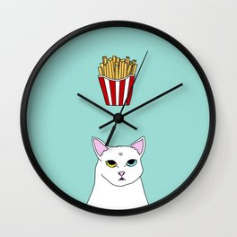 Fat D. Loves Fries Wall Clock
