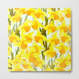 Spring Breeze With Yellow Flowers #decor #society6 #buyart Metal Print