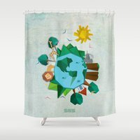 planet Shower Curtains featuring Planet by Design SNS - Sinais Velasco